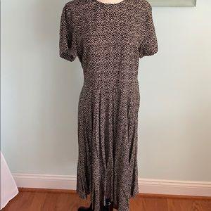 Black, cream Polka dot dress,  H&M 14